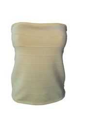 bebe Citrus Ribbed Tub Top- Size M