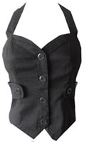 bebe Corset Halter Button Top- Size 4