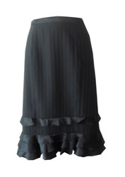 bebe Gored Ruffle Skirt- Size 8