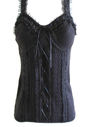 bebe Knit &amp; Lace Corset - Various Sizes