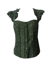 bebe Ruffle Bustier Shirt- Size XS
