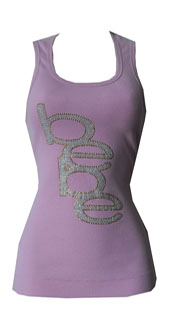 bebe Sequin Tank- Size L